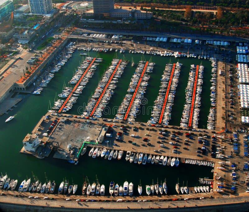 巴塞罗那港口 免版税库存图片