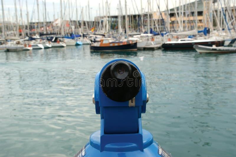 巴塞罗那港口las临近ramblas 库存照片