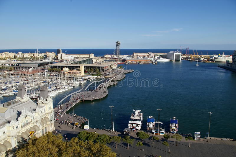 巴塞罗那端口vell 图库摄影