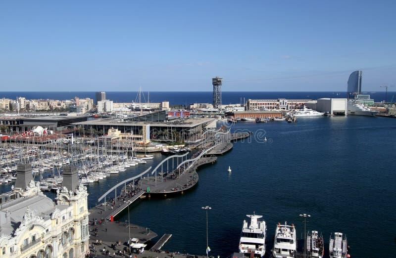 巴塞罗那端口vell 免版税库存图片