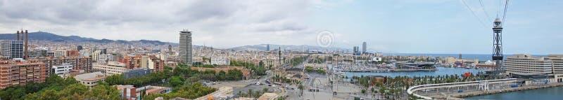 巴塞罗那西班牙全景  库存照片