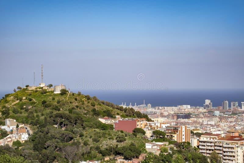 巴塞罗那都市风景城市在卡塔龙尼亚 免版税库存图片