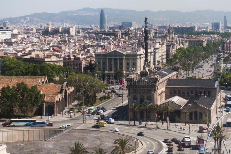 巴塞罗那鸟瞰图  库存照片