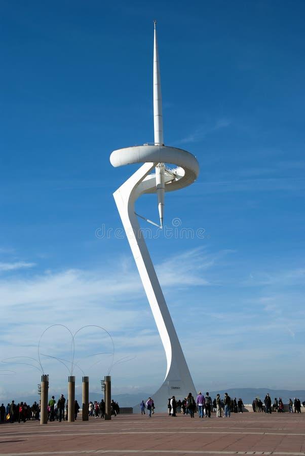 巴塞罗那calatrava塔 免版税库存图片