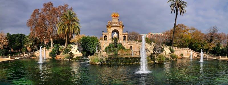 巴塞罗那ciutadella de fountain la parc 库存照片