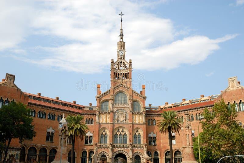 巴塞罗那creu de hospital la圣诞老人西班牙 免版税图库摄影