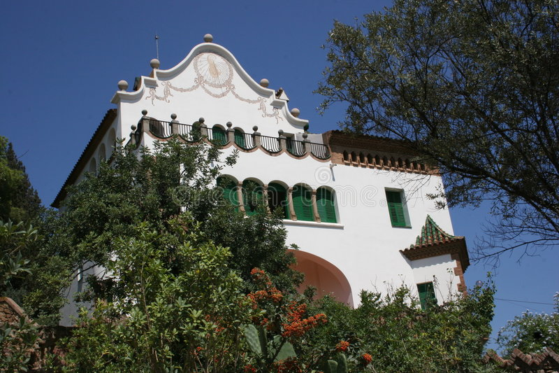 巴塞罗那gaudi guell房子公园s西班牙语 免版税图库摄影