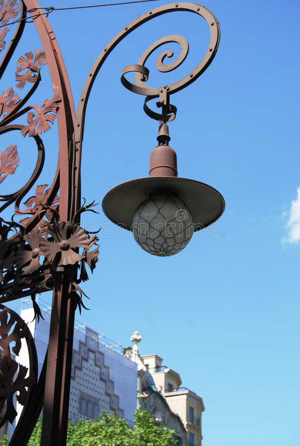 巴塞罗那gracia街道 免版税库存照片