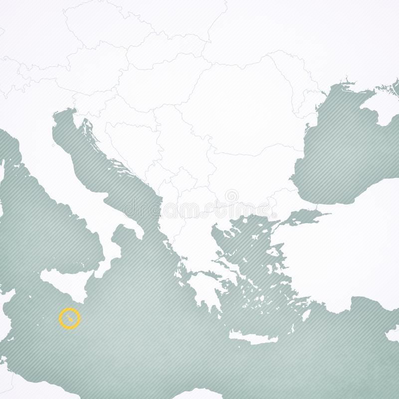 巴尔干-马耳他地图  向量例证