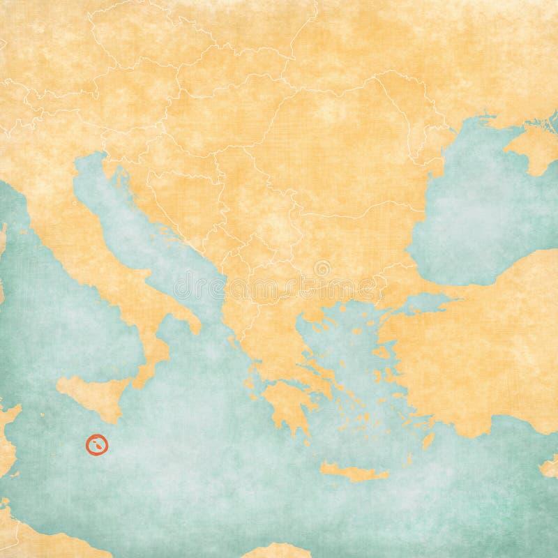 巴尔干-马耳他地图  库存例证
