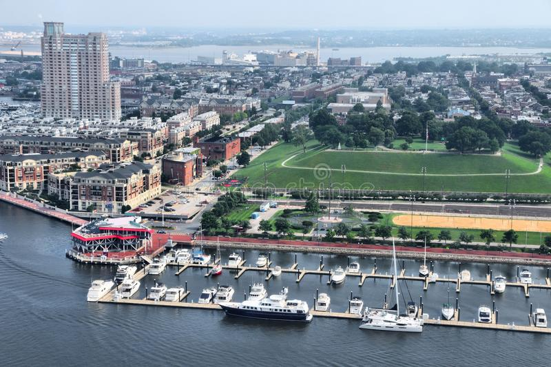 巴尔的摩市视图 库存图片