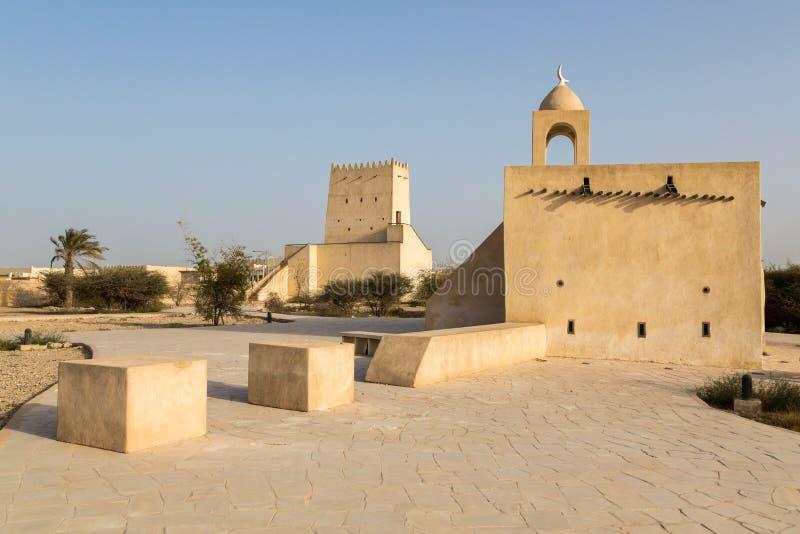 巴尔赞城楼和一个老清真寺,Salal默罕默德堡垒 库存图片