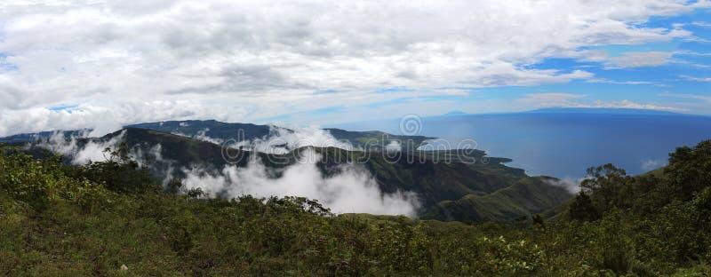 巴布亚新几内亚风景全景 免版税图库摄影