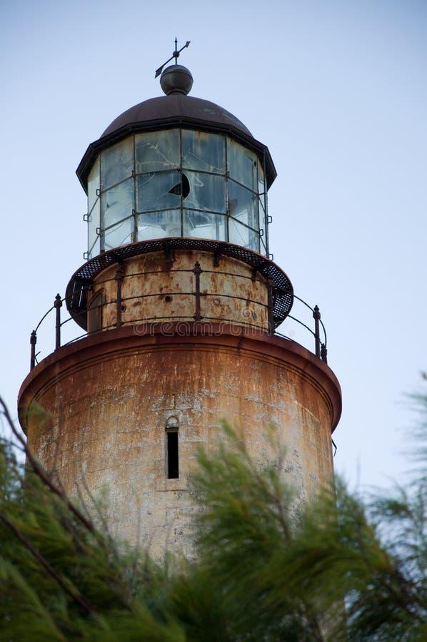 巴布达东部灯笼灯塔点空间 免版税库存照片