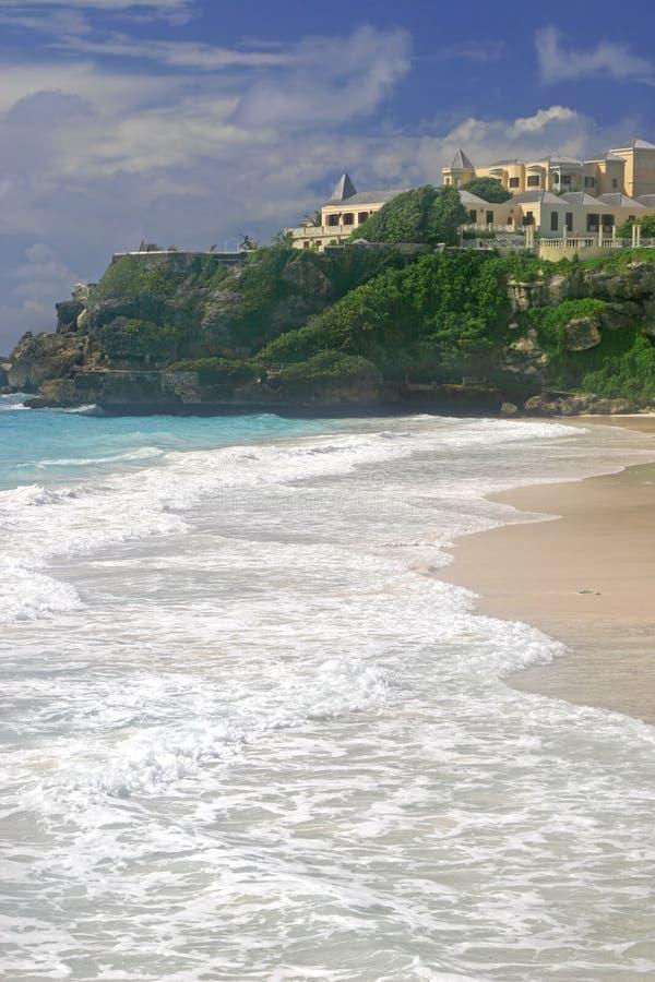 巴布达海滩起重机 免版税库存照片