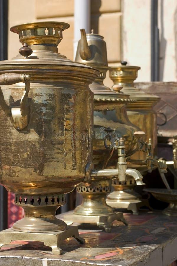 巴库俄国式茶炊 库存图片