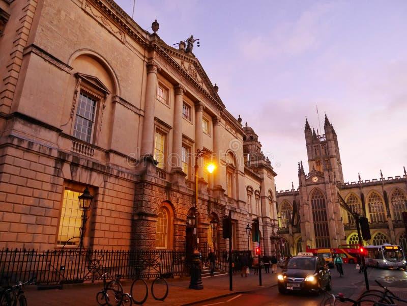 巴恩城市,浴,英国,英国 免版税库存图片