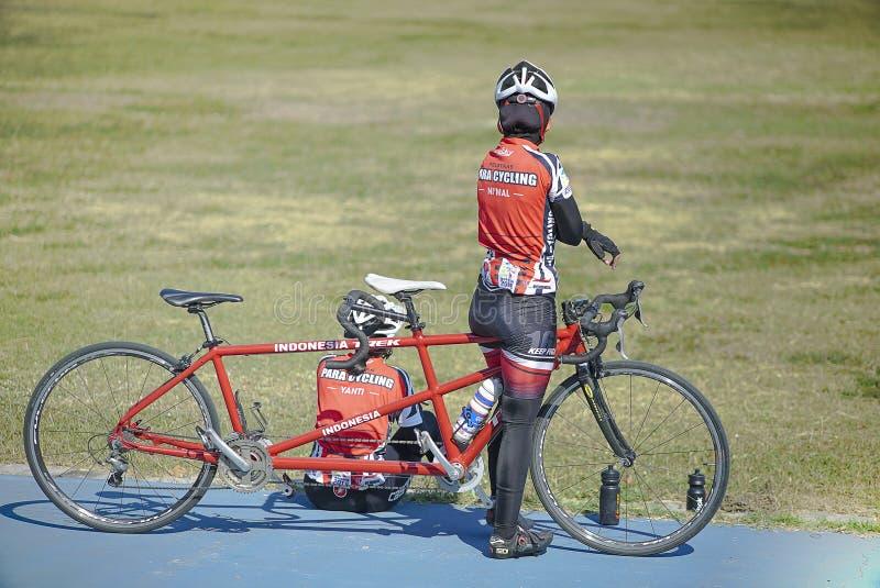 巴拉循环的运动员 库存图片