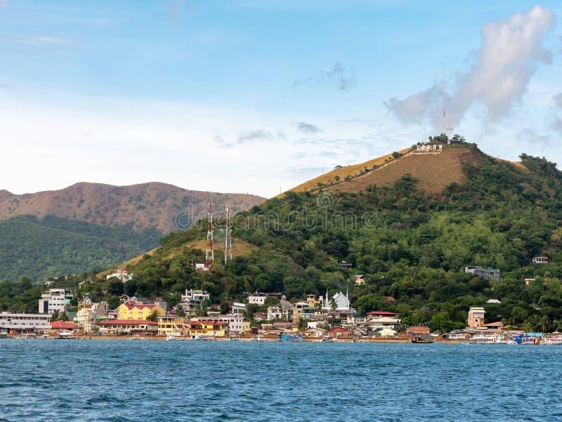 巴拉旺岛,Coron镇风景 免版税库存照片