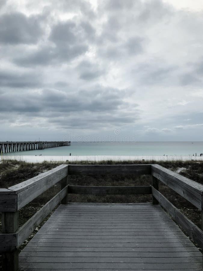 巴拿马城海滩佛罗里达在11月 免版税图库摄影