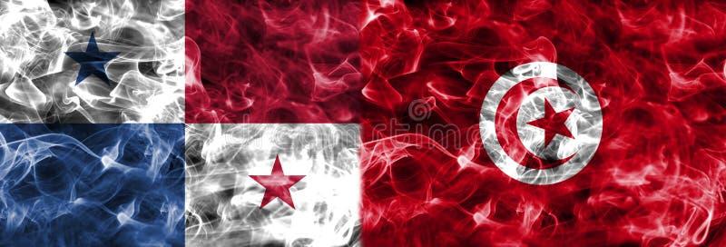 巴拿马对突尼斯烟旗子,小组G,橄榄球世界杯2018年, 向量例证