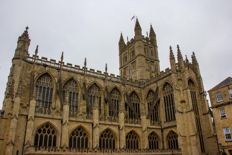 巴斯修道院教堂巴恩,英国 免版税库存图片