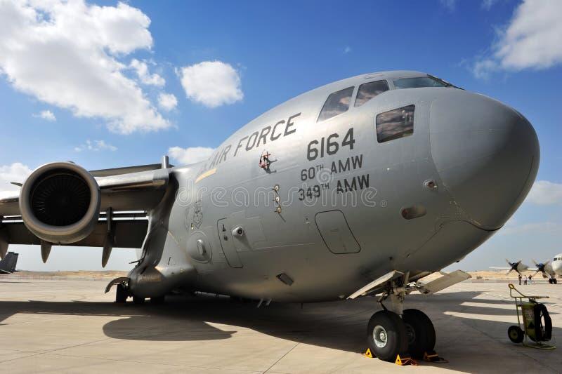 巴林ââ¬â 1月21的王国日: 波音C-17 免版税库存图片