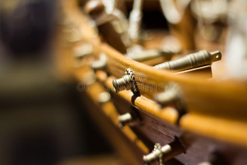 巴林传统军舰模型 免版税库存照片
