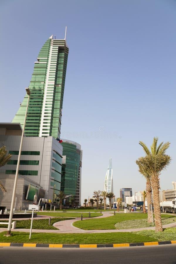 巴林市麦纳麦风景 免版税库存图片