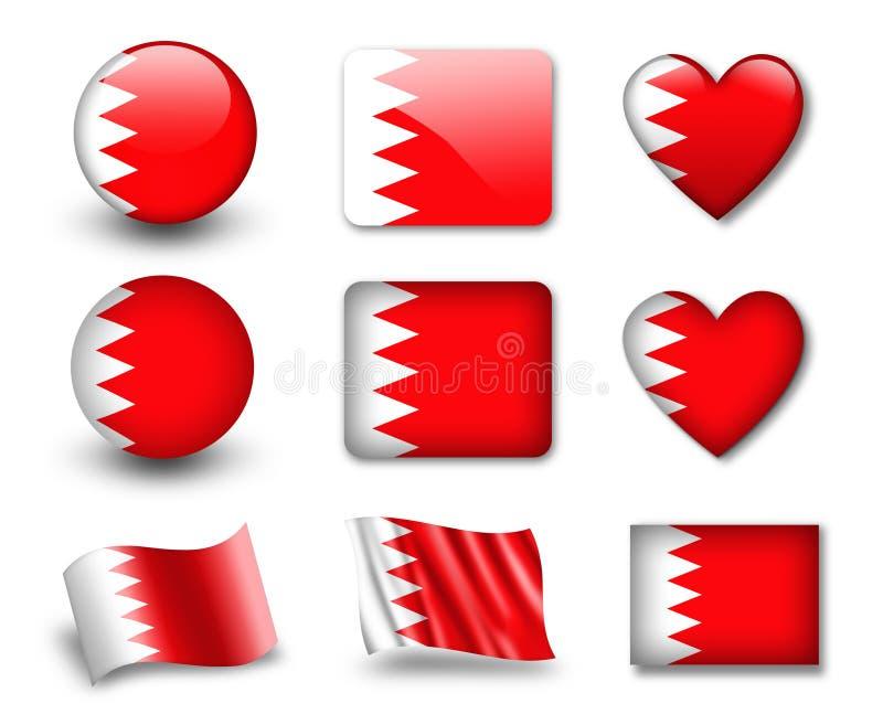 巴林标志 库存例证