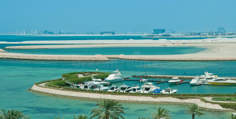 巴林港口 免版税库存图片