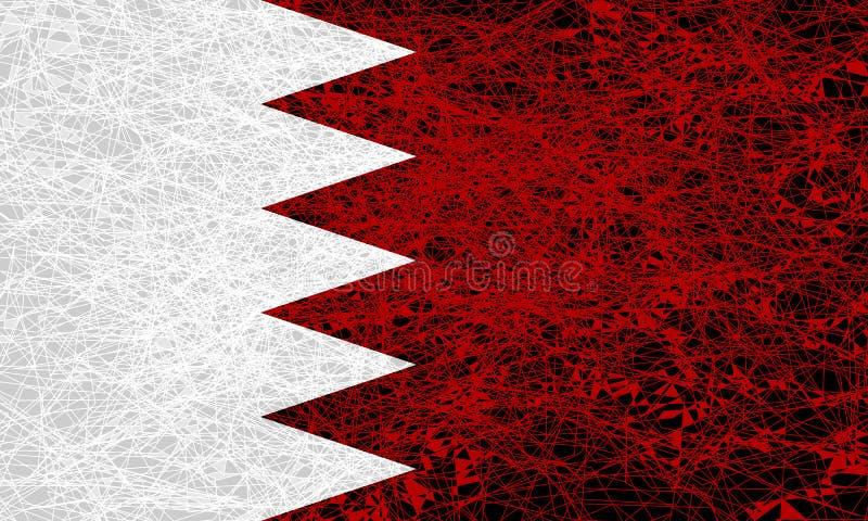 巴林的旗子 库存例证