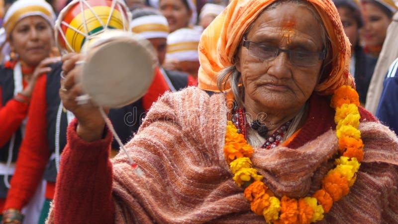 巴格什瓦尔,印度Uttrakhand,庆祝马卡萨克兰提 库存图片