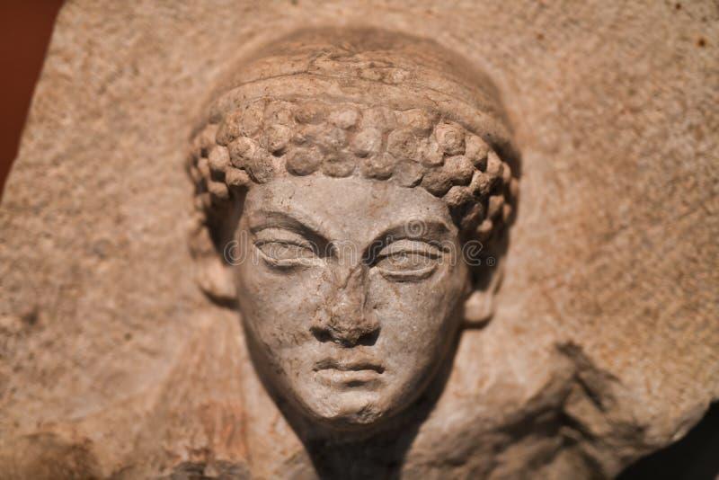 巴比伦雕塑,人面孔安心  佩加蒙博物馆,柏林 库存照片