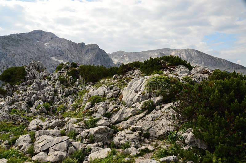 巴法力亚阿尔卑斯,在希特勒巢阿道夫希特勒避风港的` s老鹰附近 库存照片