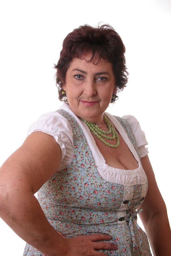 巴法力亚tracht妇女 免版税库存照片