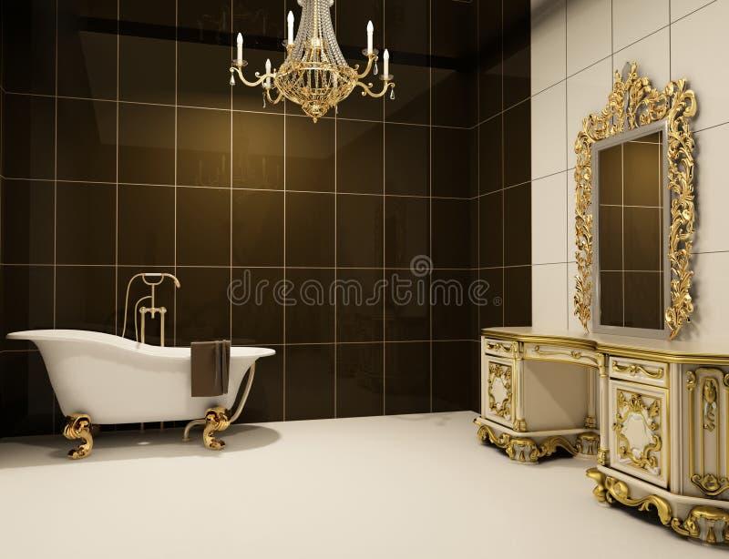 巴洛克式的卫生间家具 库存例证