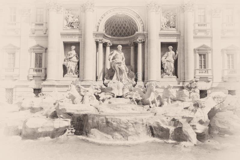 巴洛克式的喷泉意大利杰作罗马trevi 库存照片