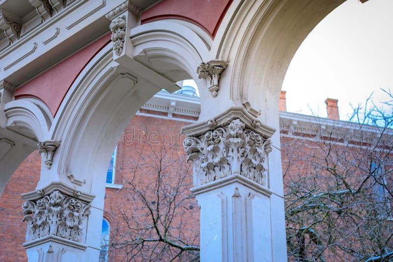巴洛克式的在Skidmore喷泉公园的样式公开艺术在老镇D 免版税库存图片
