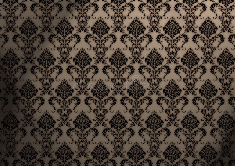 巴洛克式的墙纸 向量例证