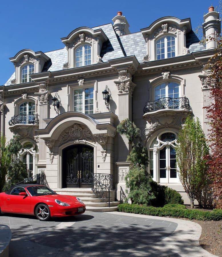 巴洛克式的大别墅法语 库存照片