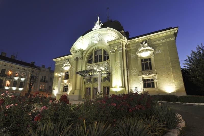 巴洛克式的大厦chernivtsi剧院乌克兰 免版税库存照片