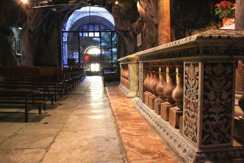 巴洛克式的教会内部 免版税图库摄影