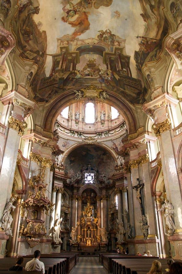 巴洛克式的教会 库存照片