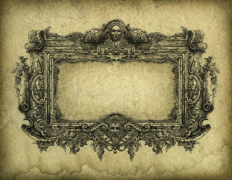 巴洛克式的框架 皇族释放例证