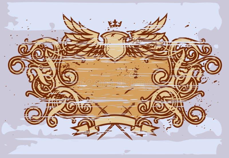 巴洛克式的框架v 皇族释放例证