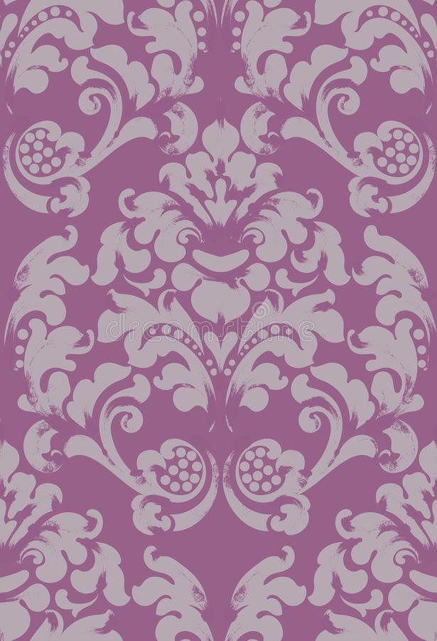 巴洛克式的被装饰的背景传染媒介 维多利亚女王时代的皇家纹理 装饰设计花 来回的框架 紫色颜色装饰 皇族释放例证