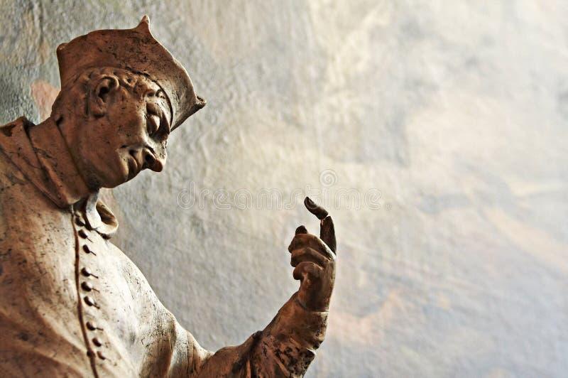 巴洛克式的详细资料雕象 库存照片