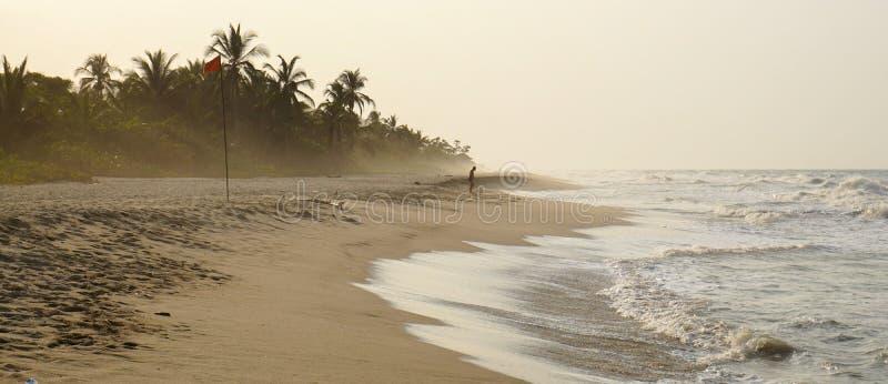 巴洛米诺马海滩在哥伦比亚 库存照片