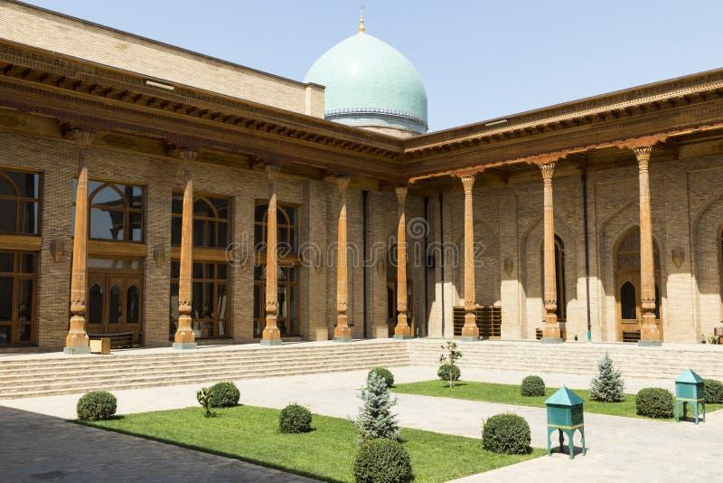 巴瑞克可汗madrasah Hast阿訇正方形Hazrati阿訇是religi 免版税库存图片